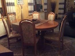 massiver wohnzimmer esszimmer tisch aus buche oval 6 stühle