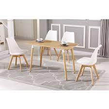 esstisch mit 4 stühlen weiß esszimmer essgruppe 120x60x75cm