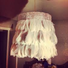 DIY Feather Chandelier Lamp