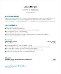 Resume Summary Examples Administrative Assistant Entry Level Functional Templates Free