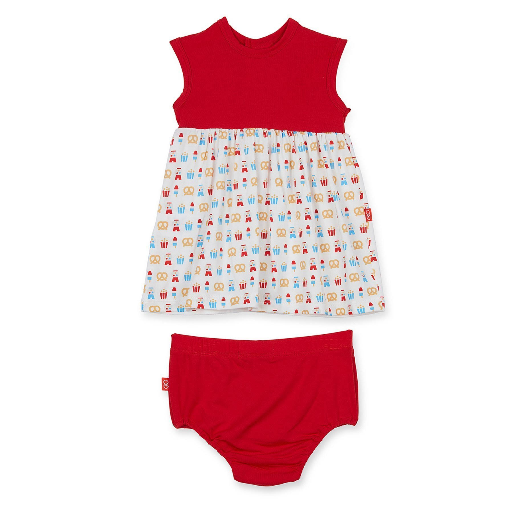 Magnetic Me Summer Fare Modal Magnetic Dress/Diaper Cover 9-12M