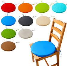 ROUND Bistro Circular Chair Cushion SEAT PADS Kitchen, Back ...
