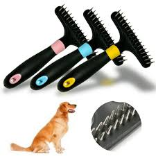 Dog Horse Shedding Blade by Pet Dog Short Long Thick Hair Fur Shedding Remove Cat Grooming