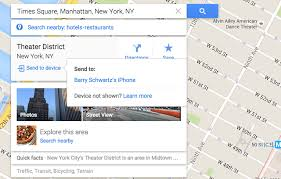 Google Maps Send To Device iPhone or Android