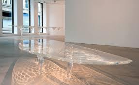 Zaha Hadid Melting Glass Table Design Of The