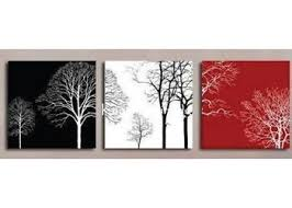 Wall Art Panels Designs Black White 3 Panel Canvas Adorable Color Supreme Red Combination