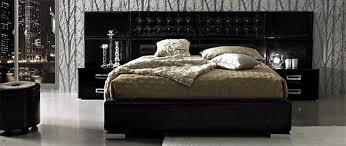 muxus schlafzimmer schwarz möbel set aus leder für moderne