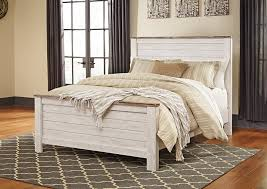 iDeal Furniture Farmingdale Willowton Whitewash Queen Full Panel Bed