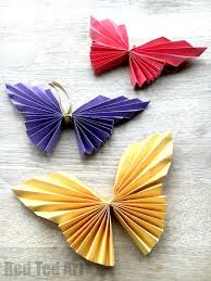 Easy Paper Butterfly Origami Beautiful Butterflies For Kids To Make These Look Super Effective Would Great As A Wall Decoration Mobile