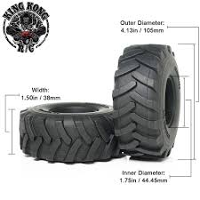 100 14 Truck Tires 105mm 175 2pcs For Tamiya 1 RC Tractor Trailer