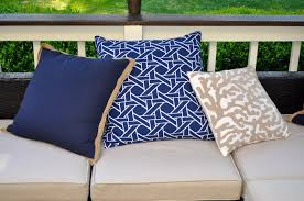Pier One Outdoor Throw Pillows by The Collected Interior Spring Deck Makeover