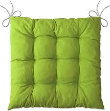 lileno home 1er set stuhlkissen apfelgrün 40x40x6 cm sitzkissen für gartenstuhl küche oder esszimmerstuhl bequeme uv beständige indoor u