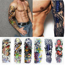6 Sheets Full Arm Leg Temporary Waterproof Tattoos Art Stickers Removable Sleeve