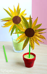 Leaf Sunflower Craft Fall Crafts for Kids