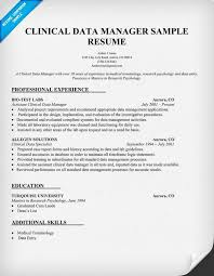 Clinical Director Resume Sample Database Manager