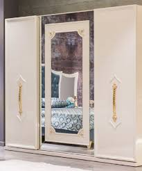 casa padrino luxus barock schlafzimmerschrank weiß gold massivholz kleiderschrank barock schlafzimmer möbel edel prunkvoll