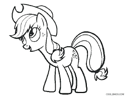 Pony Coloring Pages My Little Page Applejack And Rainbow