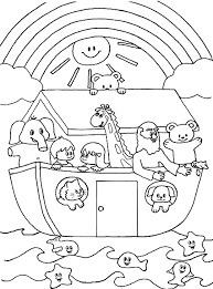 Cute Noahs Ark Coloring Page Other Pages