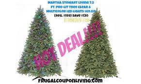 Martha Stewart 75 Foot Christmas Trees Living Ft Pre Lit Pine Tree