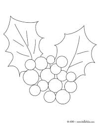 Christmas Holly Ornament Coloring Page