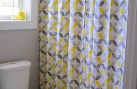Grey Striped Curtains Target by Shower Yellow Striped Shower Curtain Shower Curtains Yellow And