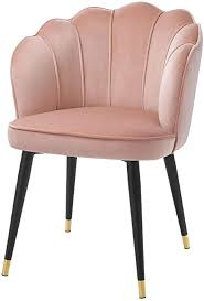 casa padrino samt esszimmerstuhl mit armlehnen rosa schwarz