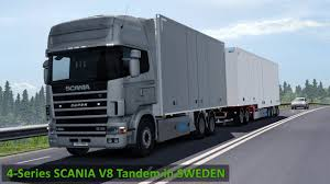 ETS2 1.30 - Scania 4-Series V8 Tandem - Ekeri Scandinavian Trailer ...