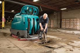 Tennant Floor Scrubber T3 by T17 Battery Powered Ride On Scrubber Tennant Company Scrubbers