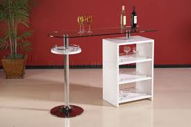 Clear Glass Top Modern Bar Table W/Gloss White Storage Round High Glass Top Bar Table And Minimalist Adjustable Swivel Home Design Ideas Images On Breathtaking Modern Dimensional In Stainless Steel Chrome With Black Tempered Display Cabinet Small Gammaphibetaocucom Bar Admirable In Kitchen With Counter White Vanity Clear For Displaying Makeup Make Rustic Height Set 5 X 7 Outdoor Rugs Vase Entrancing Bistro Stools Cleaning Pedestal Pub 42 Ding Aosom Hcom 28 Tables Green Accent Open Bars Contemporary Unit Fniture Luxurious
