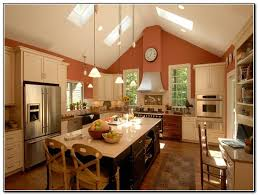kitchen lighting ideas sloped ceiling house and home