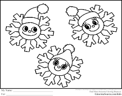 Snowflake Coloring Pages 3 Pinterest Download