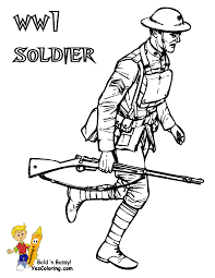 Army Coloring WW1 Soldier At YesColoring