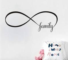 symbol unendlichkeit familie family liebe schlafzimmer