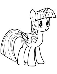 Twilight Sparkle Alicorn Coloring Pages My Little Pony Friendship Is