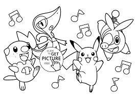 Very Funny Pokemon Anime Coloring Pages For Kids Printable Free With Music