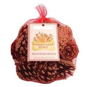 Scented Christmas Pine Cones - Christmas Spice - Blend of Cinnamon, Citrus & Festive Spices - 300g
