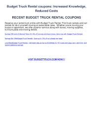 100 Budget Truck Rental Rates Truck Rental Coupons By Jimmy Cobalt Issuu