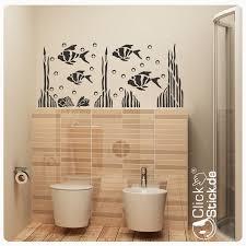 wandtattoo fische wandaufkleber badezimmer wc deko maritim w078