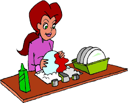 Washing Dishes Clipart 1