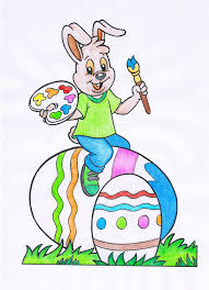 Free spring artist colorful rabbit artwork product