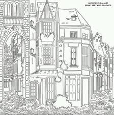 Terraced House Colouring Techniques Coloring Books Adult Christmas Crafts Watercolour Public Cities Buildings