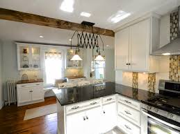 White New Englander Kitchen Update With Wood Floors SoPo Cottage Featured On Remodelaholic