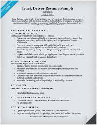 Sample Resume For Truck Driver With No Experience Popular 18 Drivers Simple