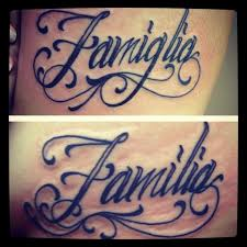 Me And My Sister Got Matching Tattoos Symbolizing Family Is Forever Mine In Italian Hers Spanish Representing Our Ethnicity