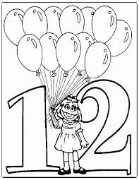 Number 15 Sesame St Colouring Pages Prairie Dawn