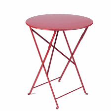 Fermob French Bistro Chairs by Fermob Metal Bistro 24 Inch Folding Table American Country