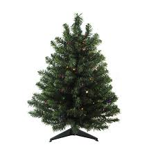 Northlight 2 Ft Pre Lit Mixed Needle Artificial Christmas Tree With 30 Constant Multicolor