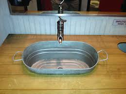 Galvanized Horse Trough Bathtub by Diy Bathroom Sink From A Bucket Bucket For A Sink In The