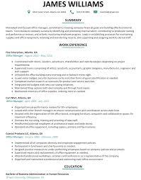 Office Management Resume Sample