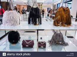 paris france shopping women u0027s handbags on display inside luxury